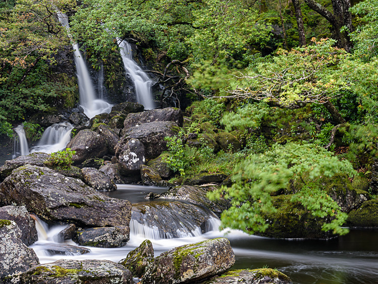 Waterfall at Inversnaid (1) - Loch Lomond and The Trossachs