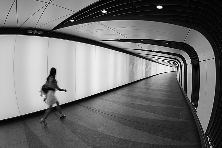Light Tunnel at King's Cross (4) - Street Photography