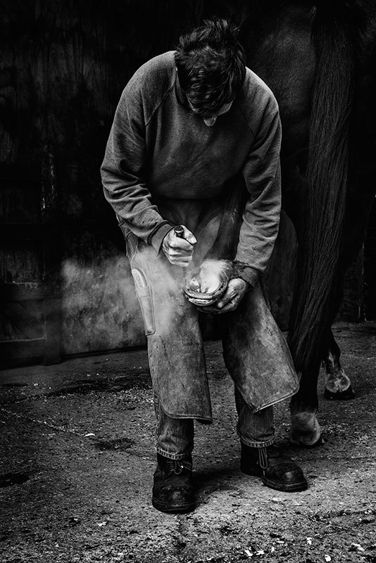 The Farrier I - Black & White