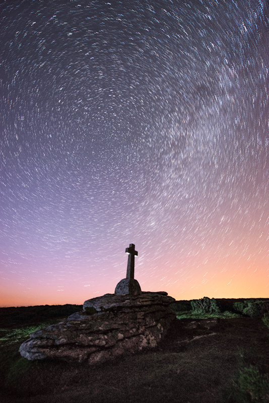 Milky Way trails at Cave Penney Cross - The Night