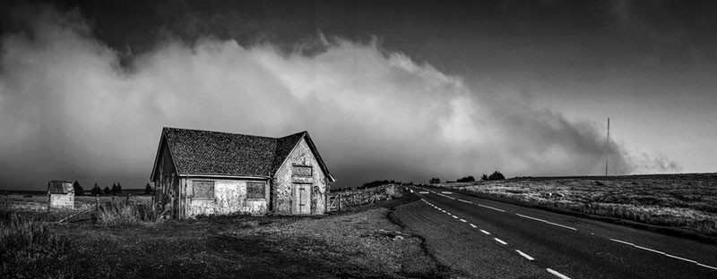 On top of the Moor - Black & White