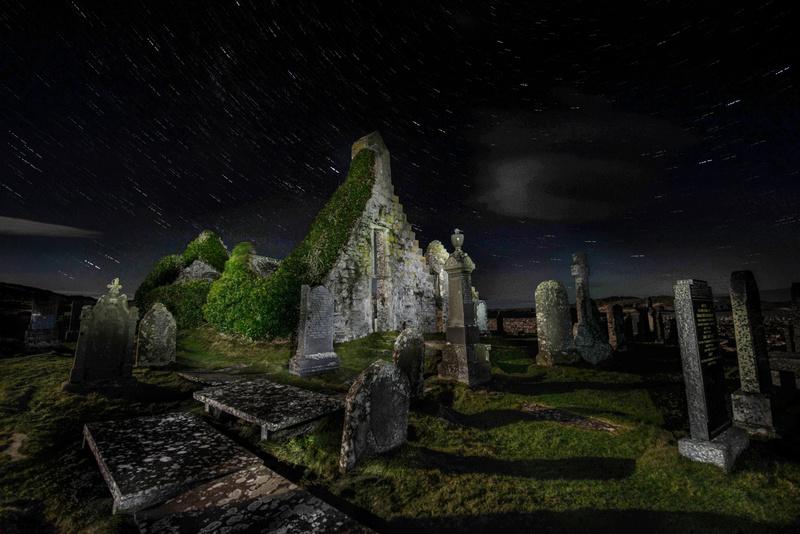 Balnakiel Church - painted - The Night