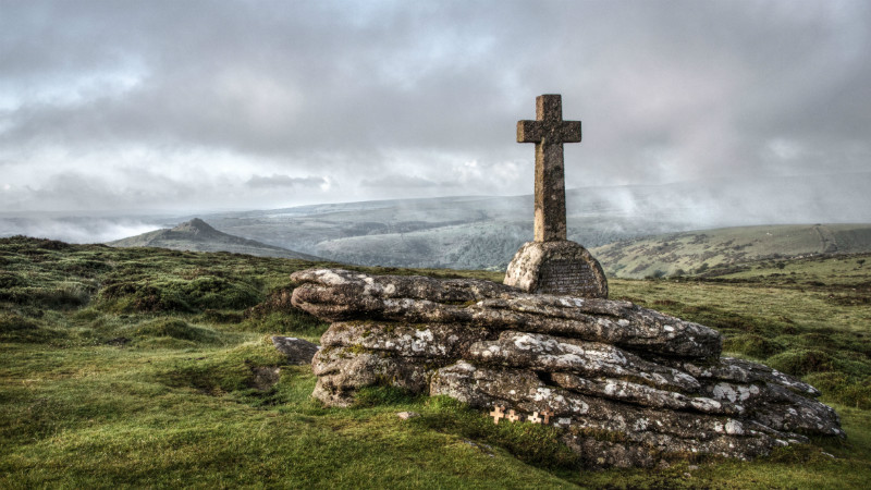 Cave Penney Cross on Corndon Tor, Dartmoor