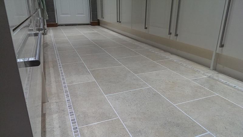York Stone Flooring In Kitchen