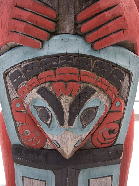 Totem Pole detail,1, Haines, IMG_9309 - Cityscapes