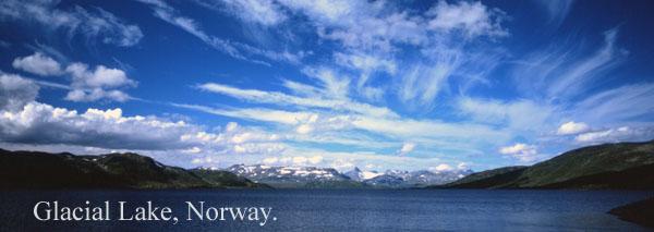 glacial lake - Clouds