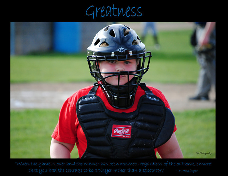 Greatness Poster with Border JULY 2016 - Inspirational Office & Classroom Art