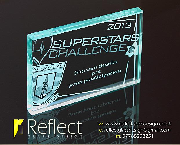 Reflect Glass Design Superstars Challenge Personalised sandblasted gla dc2c519be