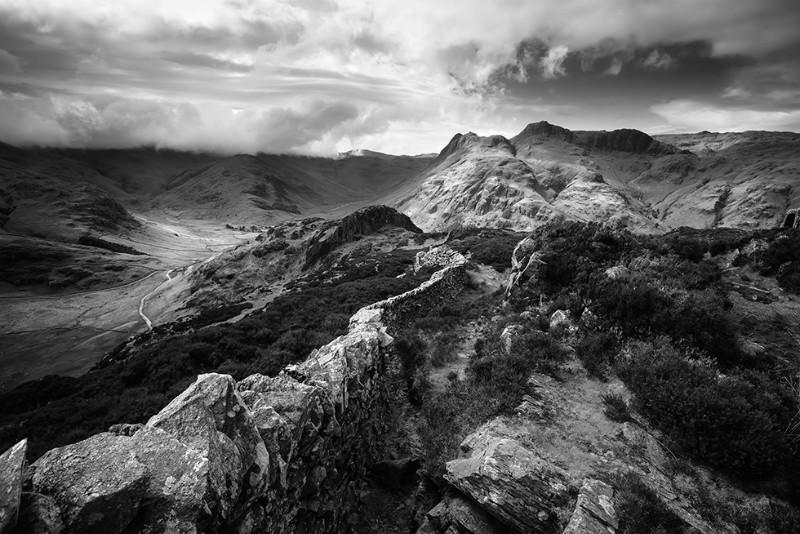 The Langdale Run - Black & White