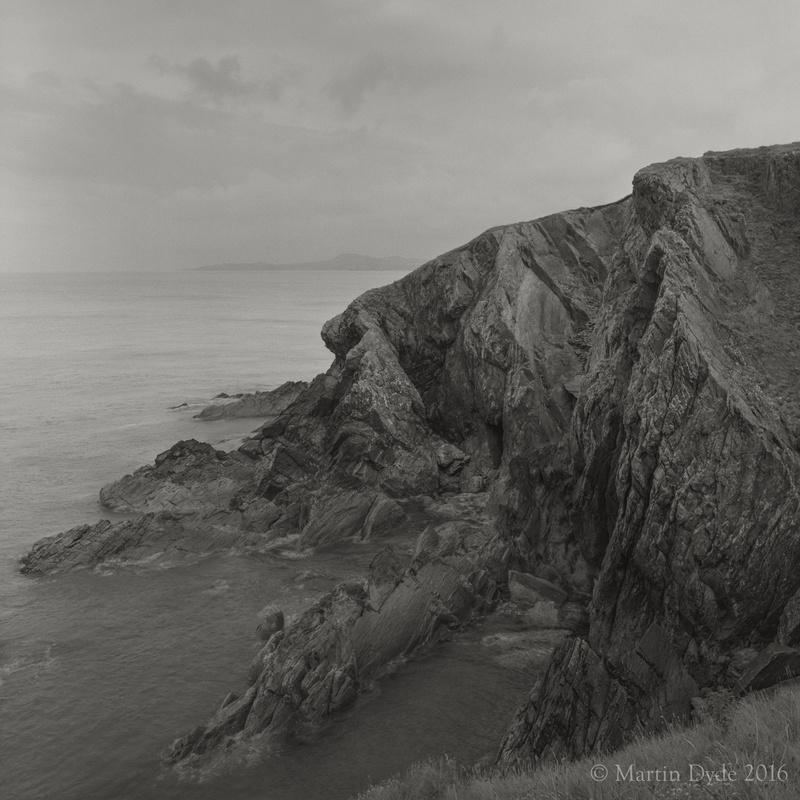 Cliff study 11, Porthgain, St. Davids Peninsula, Pembrokeshire, Wales | The Silver Monochrome: black-and-white film photography by Martin Dyde