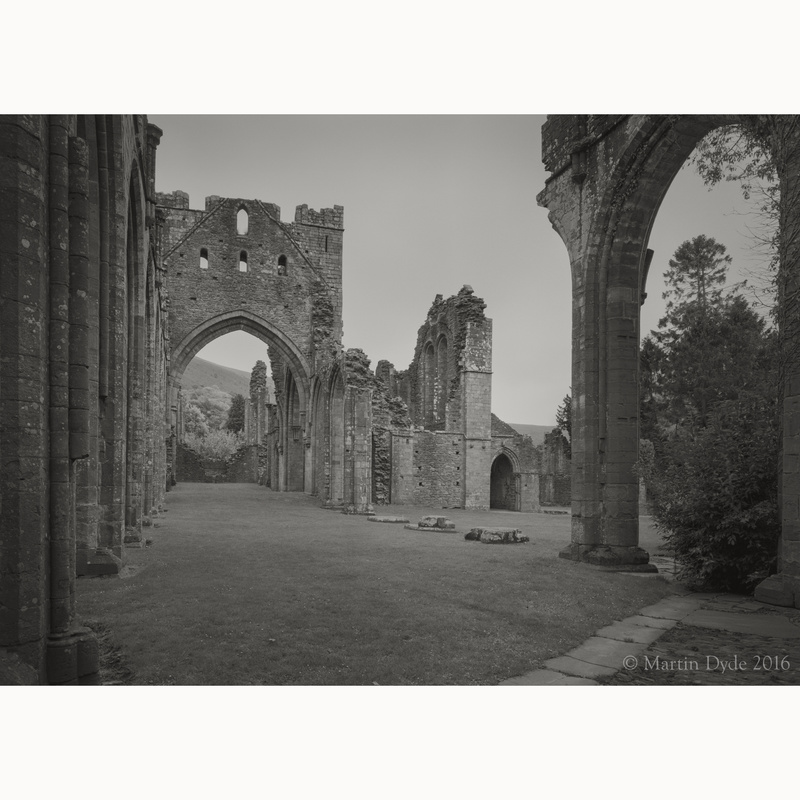 Llanthony Priory study 2, Black Mountains, Wales | The Silver Monochrome: black-and-white film photography by Martin Dyde