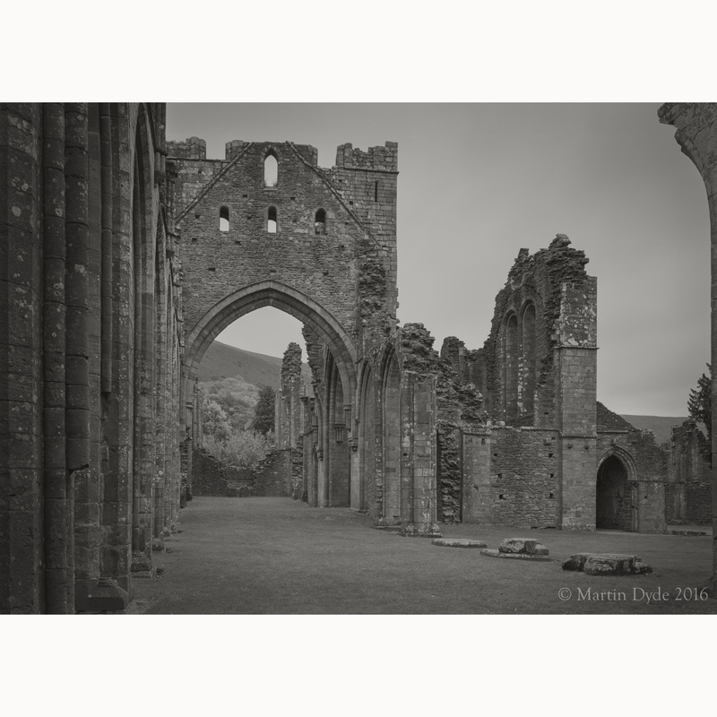 Llanthony Priory study 3, Black Mountains, Wales | The Silver Monochrome: black-and-white film photography by Martin Dyde