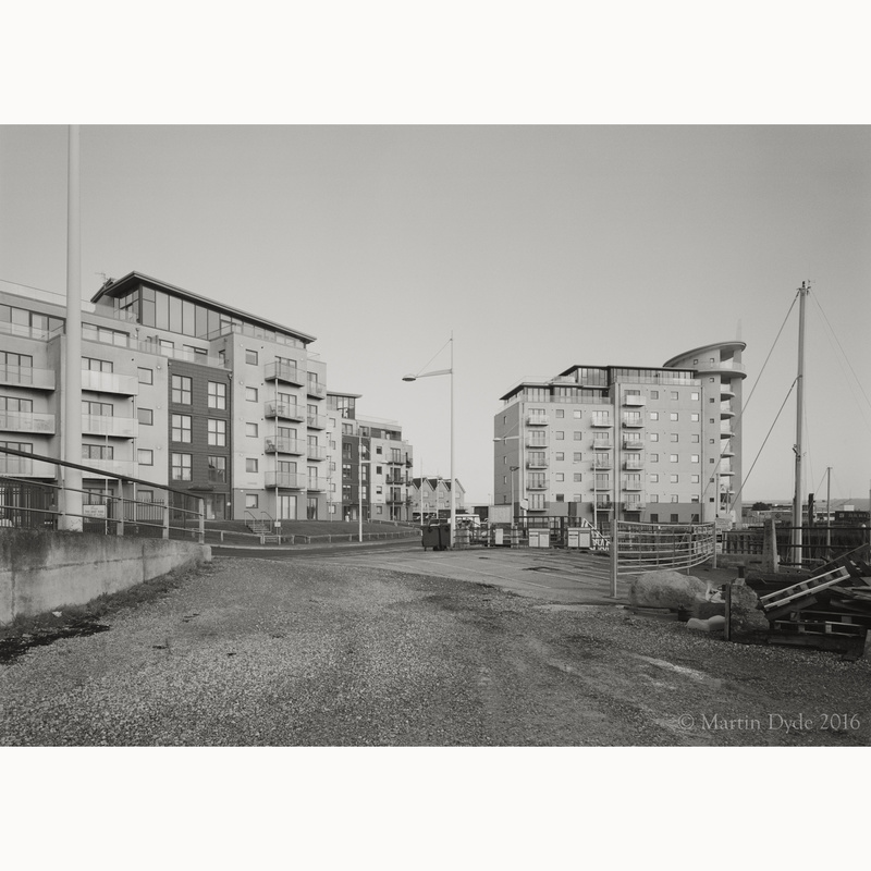 New blocks of flats on Newhaven Docks | The Silver Monochrome: black-and-white film photography by Martin Dyde