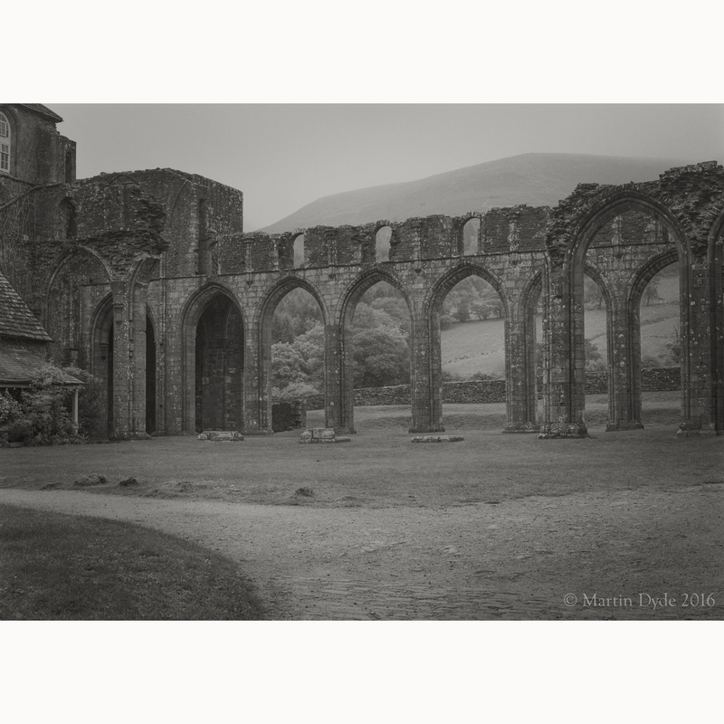 Llanthony Priory study 4, Black Mountains, Wales | The Silver Monochrome: black-and-white film photography by Martin Dyde