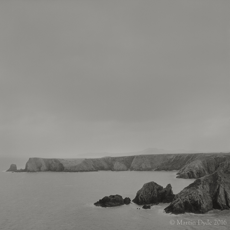Cliff study 1, Abercastle, St. Davids Peninsula, Pembrokeshire, Wales | The Silver Monochrome: black-and-white film photography by Martin Dyde