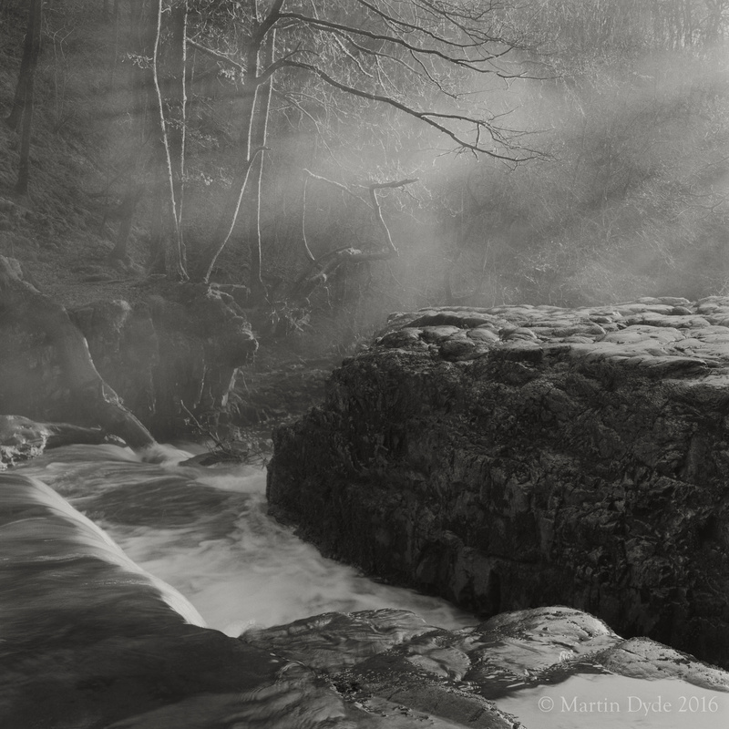 Waterfall, Sgwd Y Bedol, Brecon Beacons, Wales, winter 2014 | The Silver Monochrome: black-and-white film photography by Martin Dyde
