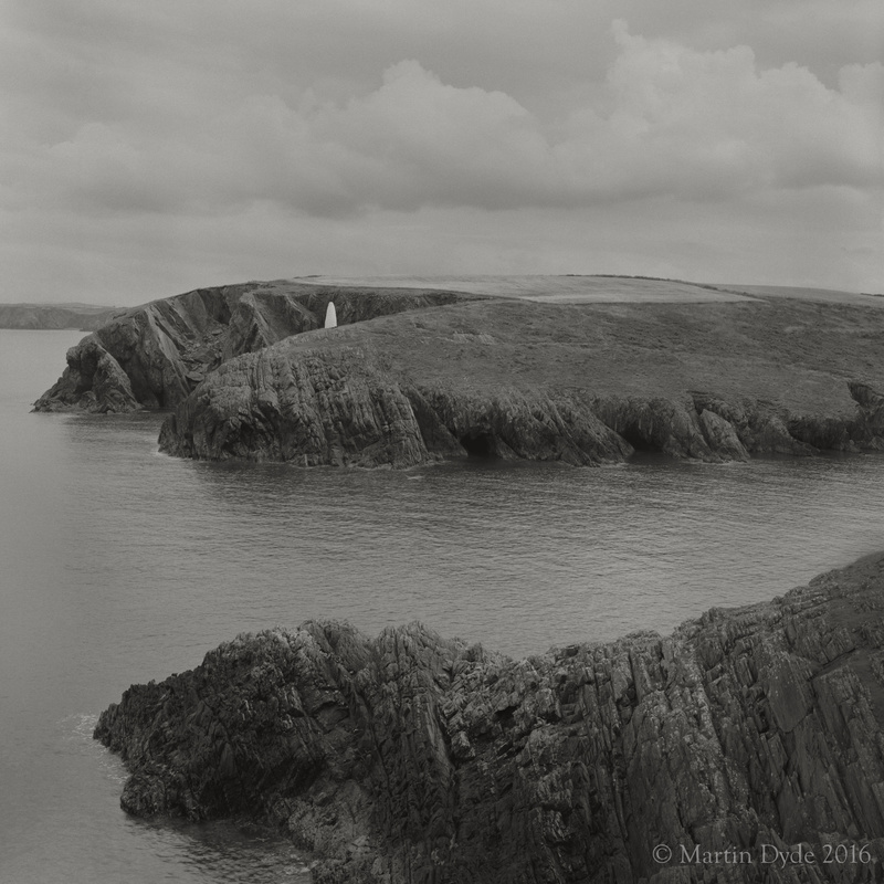 Cliff study 9, Porthgain Harbour Entrance, St. Davids, Pembrokeshire | The Silver Monochrome: black-and-white film photography by Martin Dyde