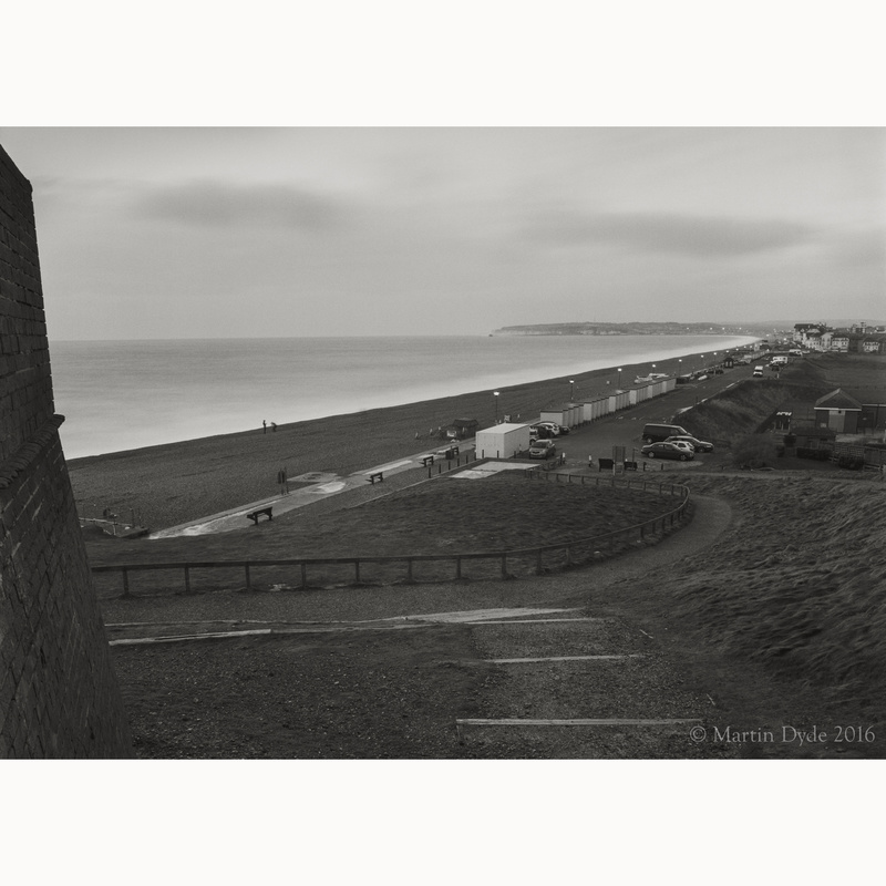 Seaford Seafront from Seaford Head | The Silver Monochrome: black-and-white film photography by Martin Dyde