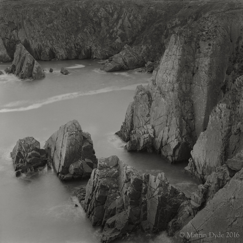 Cliff study 2, Porthclais, St. Davids Peninsula, Pembrokeshire, Wales | The Silver Monochrome: black-and-white film photography by Martin Dyde