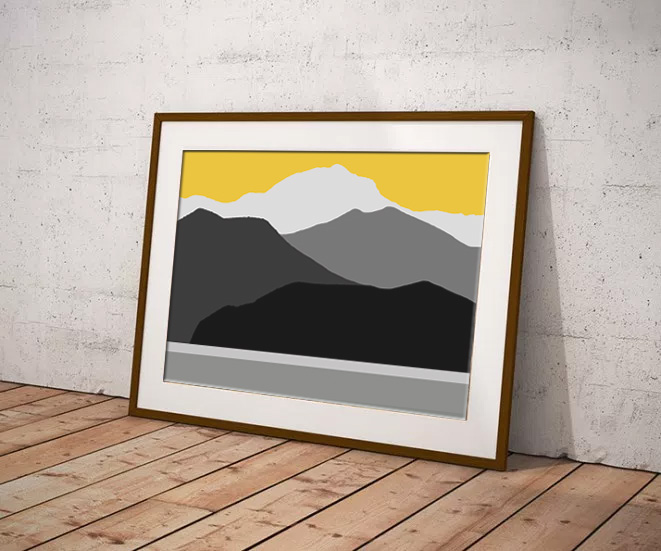 Prints for lounge by Digital Artist Maxine Walter