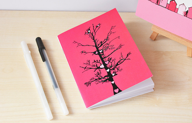 Blank notebook stationery office supplies small notepad by Dorset Artist Maxine Walter