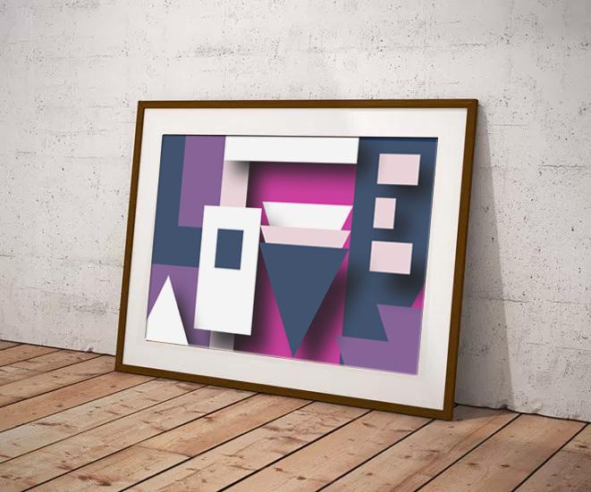 'Love' by Maxine Walter - Geometric