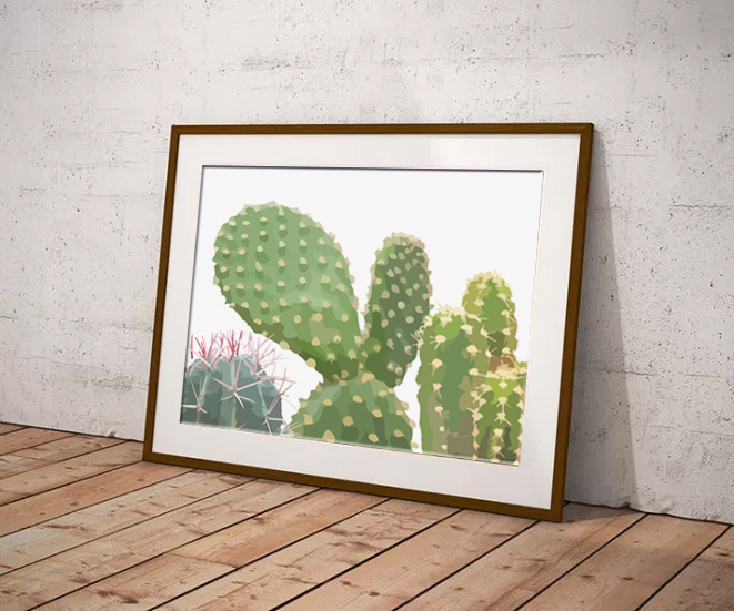 Cactus Family by Maxine Walter - Flora