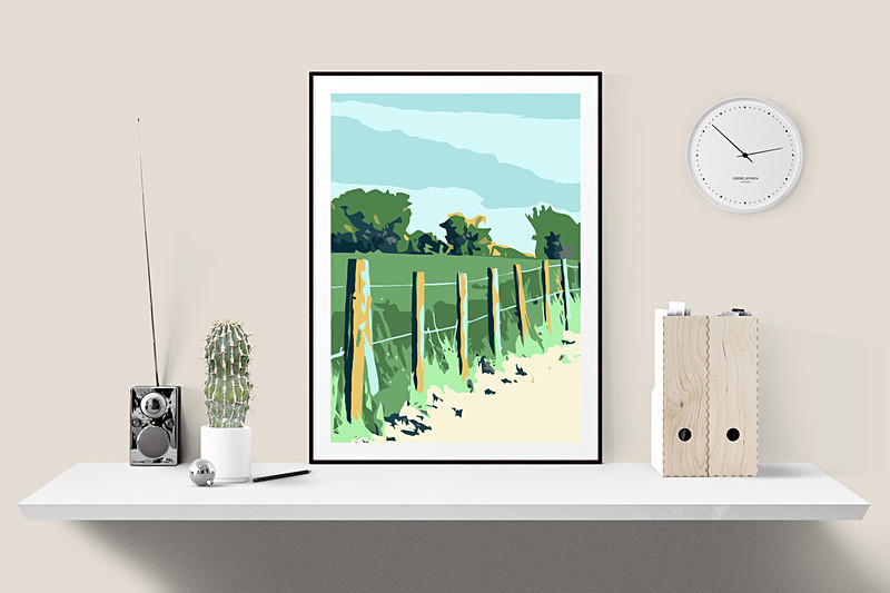 Countryside prints UK by Dorset Artist Maxine Walter