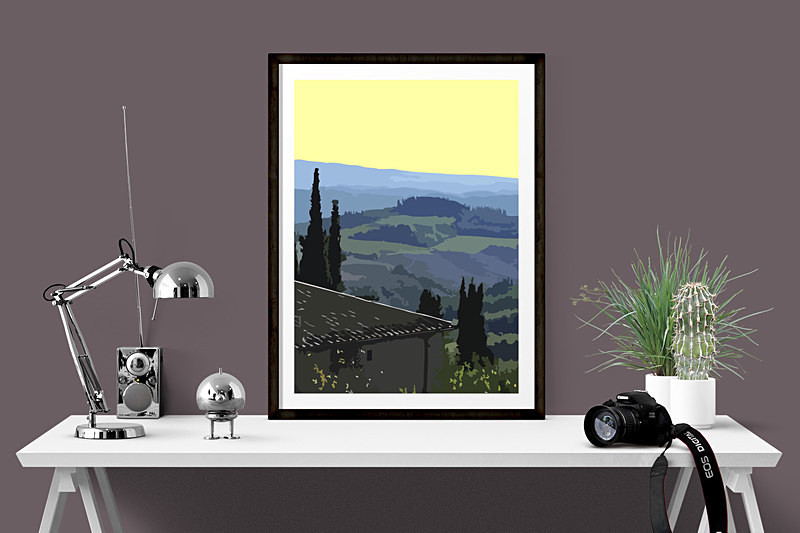 Tuscany Art Prints for sale by Digital Artist Maxine Walter
