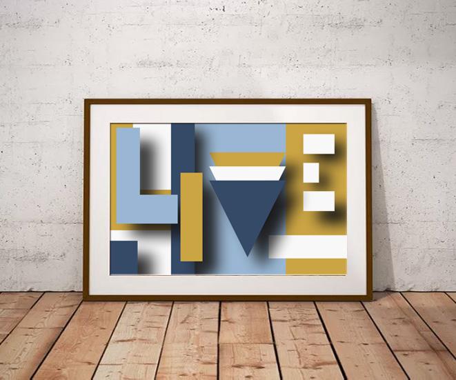 'Live' by Maxine Walter - Geometric