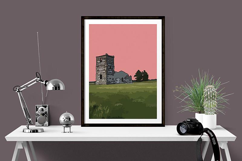Dorset Prints for sale by Digital Artist Maxine Walter