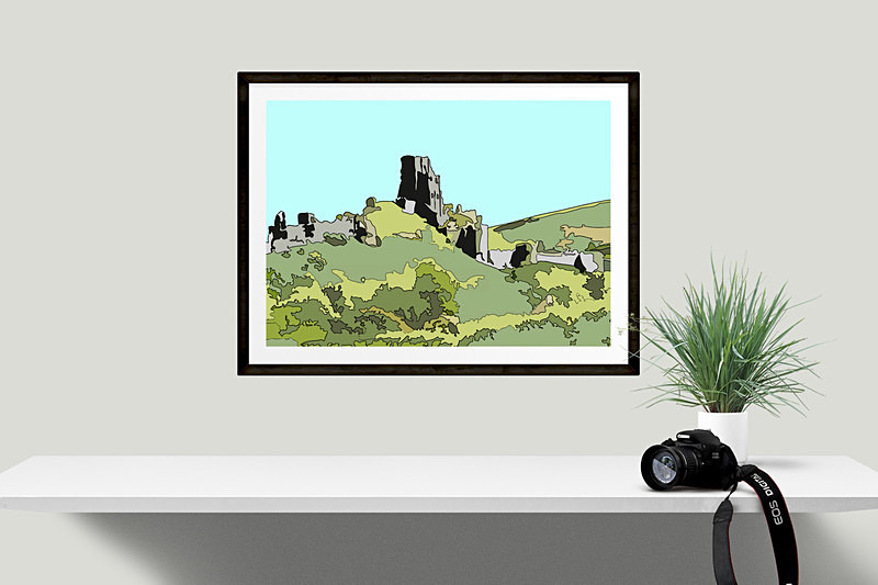 Dorset Prints for sale by Digital Artist Maxine Walter