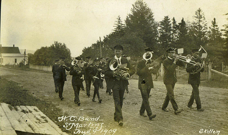 HC Band St. Martins New Brunswick Canada 1909 - Historic New Brunswick