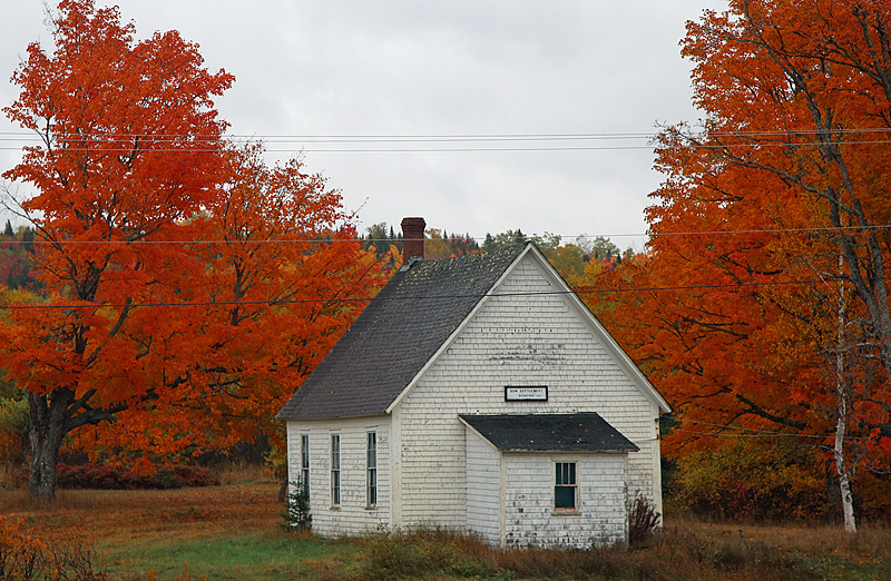 Dow Settlement One-Room Schoolhouse Circa:1889 NB Canada - Old Barns & Buildings