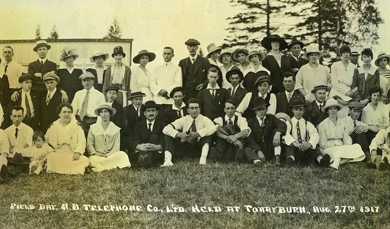 NB Telephone Company Ltd Annual Picnic Day 1917 Torryburn - Historic New Brunswick