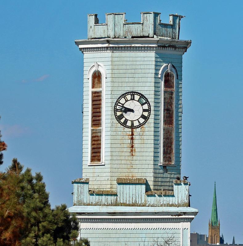 St. George's Anglican Church Clock Tower Saint John New Brunswick - Churches of New Brunswick