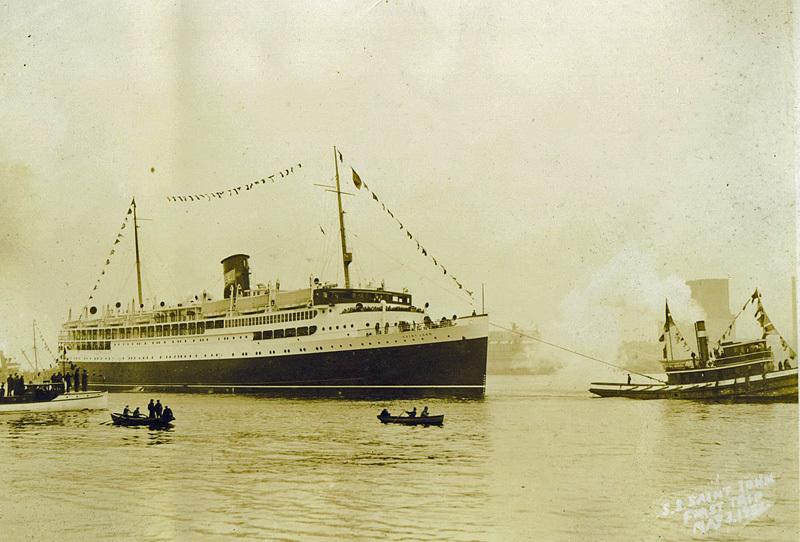 SS Saint John Departs Saint John Harbour May 3rd 1932 - Historic New Brunswick
