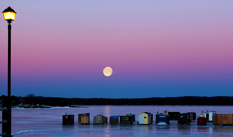 Iced Twilight - Sunset/Moonrise