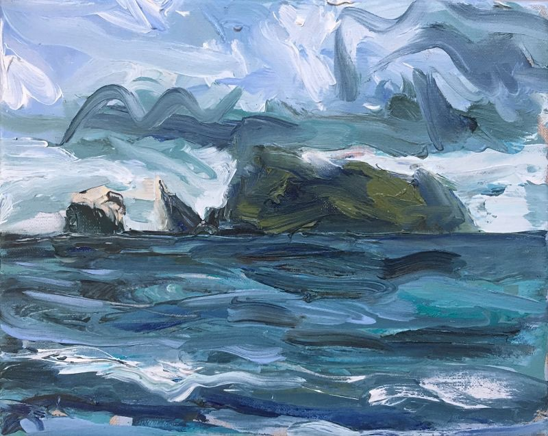 Approaching St Kilda | Fine Art Painting |  Mangurstadh Gallery