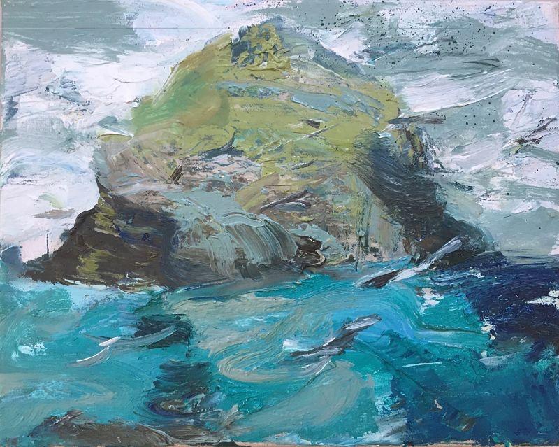 Stac Lee | St Kllda | Oil Painting | Mangurstadh Gallery
