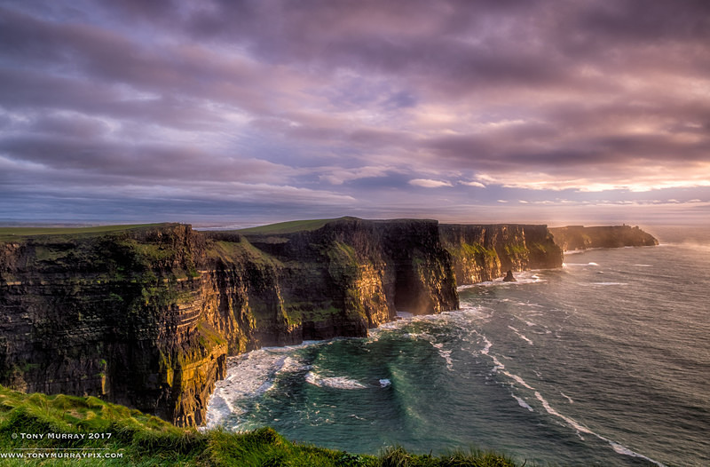 Last light at Cliffs of Moher - Clare