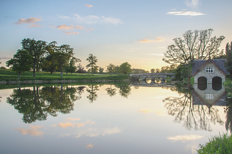 Sunset over The Boat House - Carton House