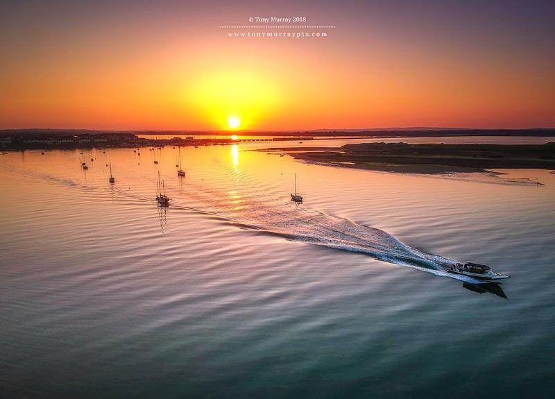 Exiting Malahide Marina - Aerial Photography