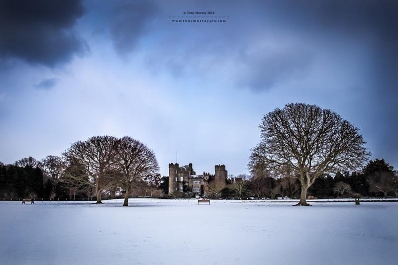 Snow in Malahide Castle - Malahide