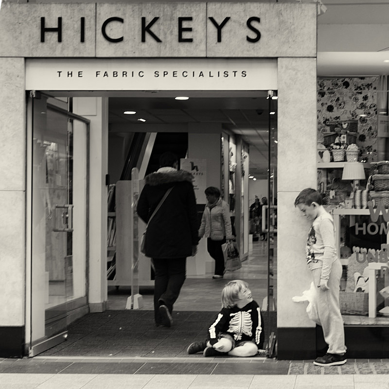 Boys playing outside hickeys - STREET ~ B&W