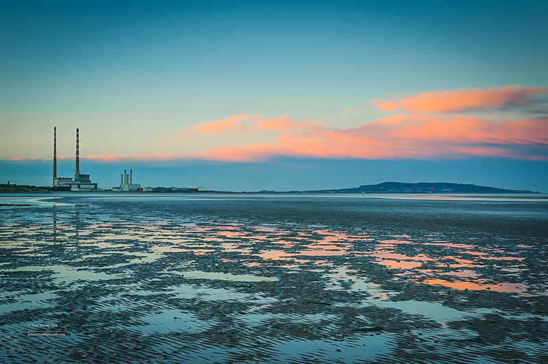 Dublin's Twin Towers at Sunset - Sandymount