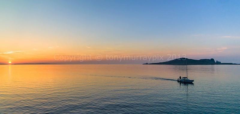 Sunset near Irelands Eye, Howth Co. Dublin - Howth