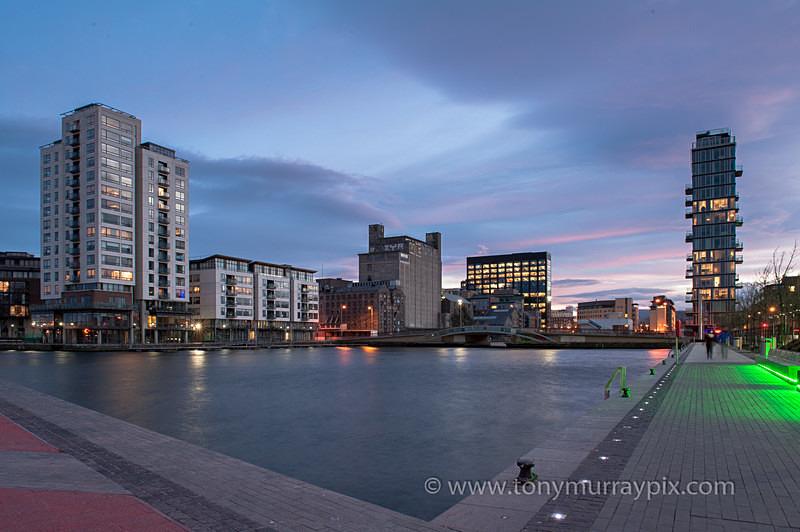 Sunset over Grand Canal Dock - Dublin