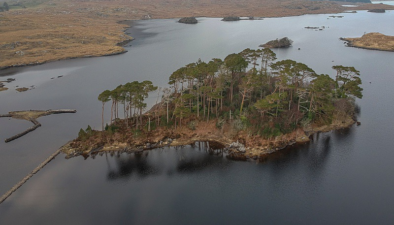 Pine Island Derryclare - Aerial Photography