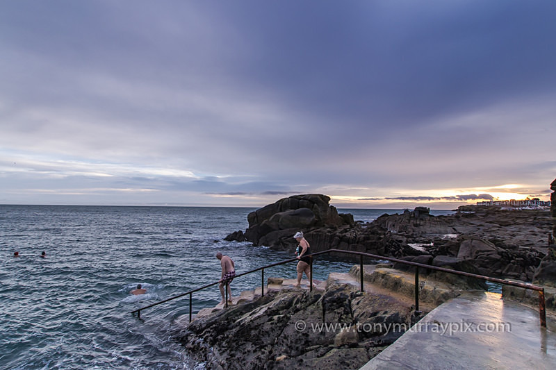 Early Morning swim at the forty foot, Sandycove - Forty Foot